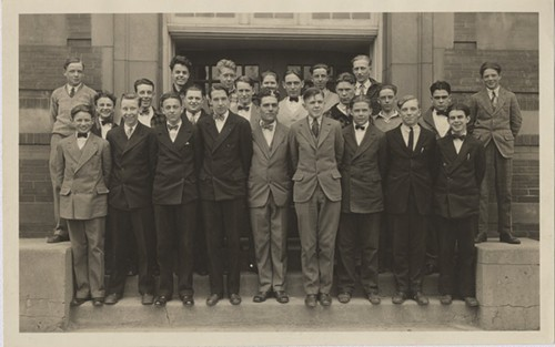 The West Chicago High School boys glee club ca. 1930