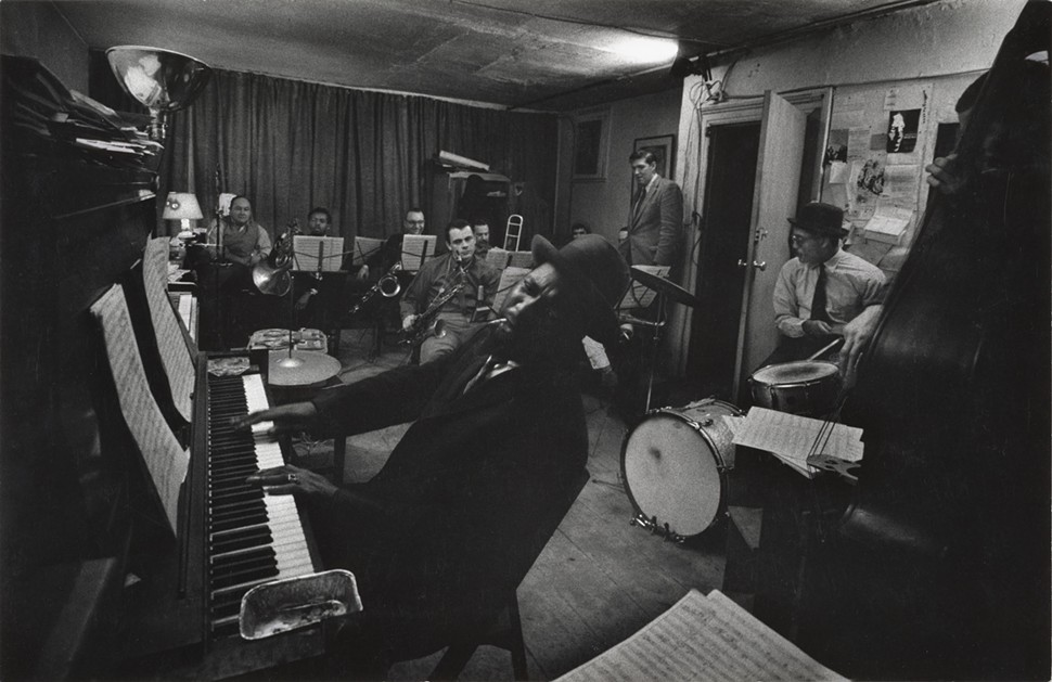 Thelonious Monk and musicians in rehearsal for the Town Hall concert