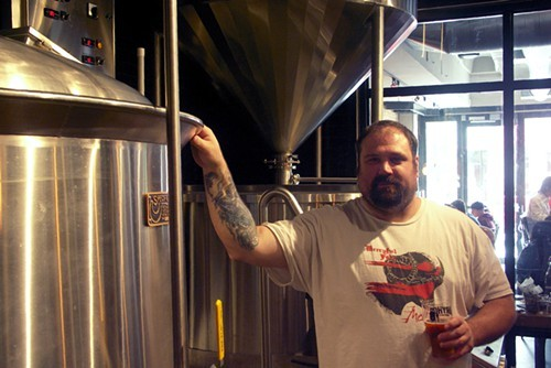 This is hardly as intimate as DryHop brewer Brant Dubovick has gotten with this ten-barrel brew house.