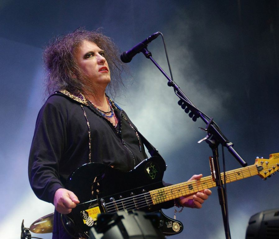This is what Robert Smith of the Cure looks like now.