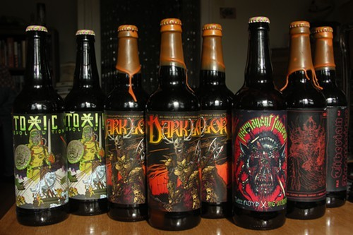 This years bottle haul: Toxic Revolution, Dark Lord, Permanent Funeral, and Tiberian Inquisitor