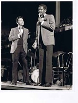 Tim Reid and Tom Dreesen performing at the first Black Expo, at the Union Stockyards in 1969