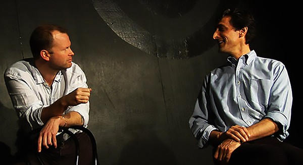 TJ Jagodowski and Dave Pasquesi have free rein of their own theater, the Mission, in iO's new space. - COURTESY IO