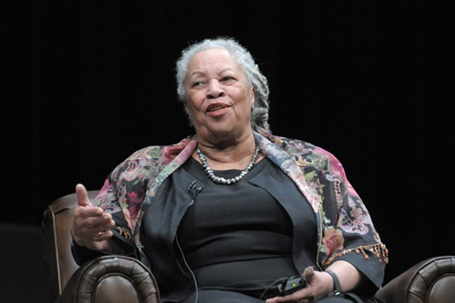Toni Morrison at the awards dinner