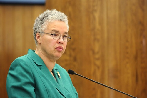 Toni Preckwinkle, dropping out of the mayoral race and breaking hearts.