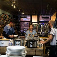 A Schwinn-inspired dinner transforms a Milwaukee Avenue bike shop into a supper club