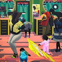 Kerry James Marshall reconstructs art history with black Americans at its center