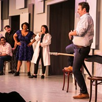 The conversation breaks down in Second City's <i>The Winner . . . of Our Discontent</i>