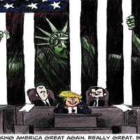 <i>Chicago Tribune</i>'s conservative cartoonist takes a bite out of Trump