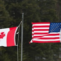 The dividing line between the U.S. and Canada