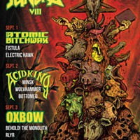 There's a pile of sacrificial severed heads on the gig poster of the week