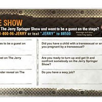Looking back on a more innocent time when we could ask, 'Are the fights on <em>Jerry Springer</em> staged?'