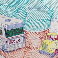 Exploring the long-lost Wesley Willis collection at Quenchers Saloon