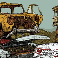 America is a junkyard on the gig poster of the week