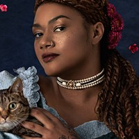 The portrait of a lady (and her cat)
