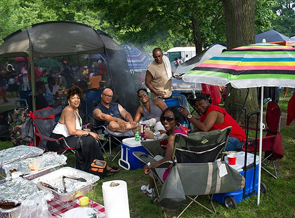 With some restrictions, the Chosen Few Picnic permits tents, coolers, lawn furniture, umbrellas, and outside food and drink, so that fans can party in style. - MARC MONAGHAN