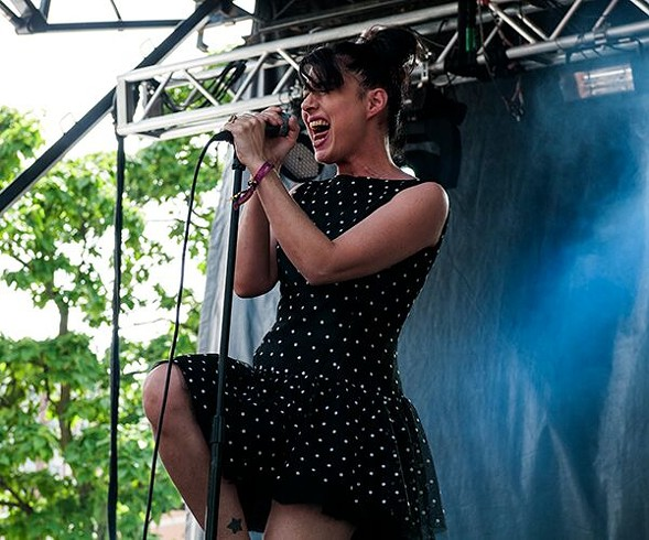 Kathleen Hanna, whose performance was a favorite of many Reader writers. - ANDREA BAUER