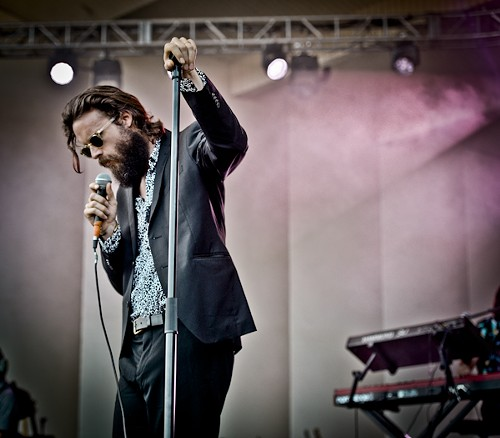 """During a song about his wife, Father John Misty admonished the boisterous crowd: """"Shh, my feelings."""" - ALISON GREEN"""