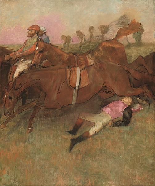 Scene From the Steeplechase: The Fallen Jockey - COURTESY NATIONAL GALLERY OF ART