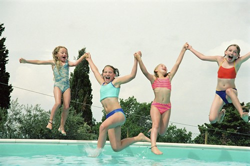 Sorry, kids—we're trading pools for piles of leaves early this year. - THINKSTOCK