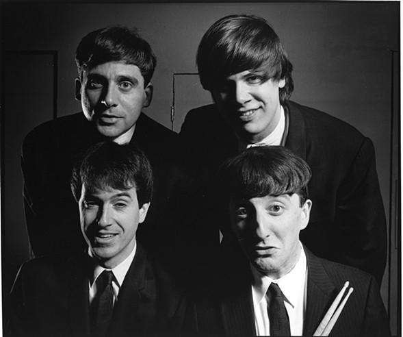 Steve Carell (top left) and Colbert meet the Beatles - COURTESY OF SECOND CITY