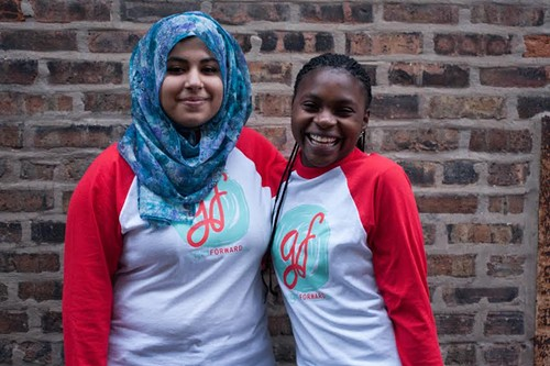 Refugee girls like Hadeel and Sylvie connect with mentors and other refugee teens through local nonprofit GirlForward. - COURTESY GIRLFORWARD