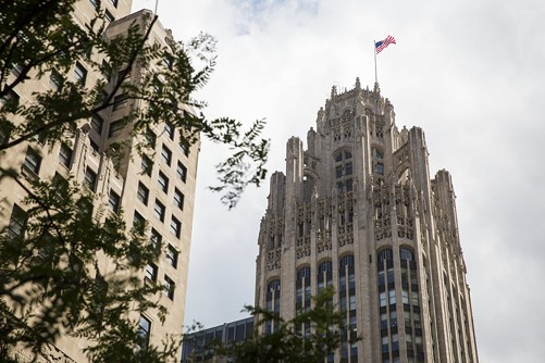 Tribune Tower - CHANDLER WEST/CHICAGO SUN-TIMES