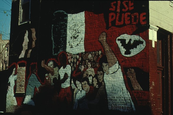 Guerrero completed his first mural, Si Se Puede (Yes We Can), in 1973. - (COURTESY OF CHICAGO PUBLIC ART GROUP)