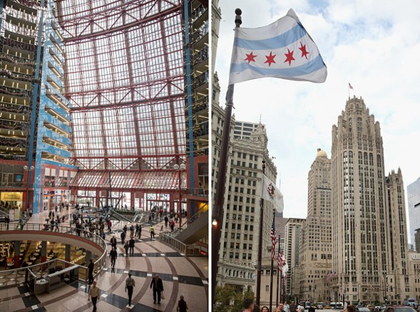 Two iconic downtown buildings will soon be for sale. Which gives this reporter an idea. - (SUN-TIMES)
