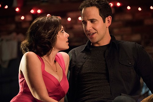 Rebecca (Rachel Bloom) convincing her ex's friend Greg (Santino Fontana) that's she's, like, so not crazy. - CW