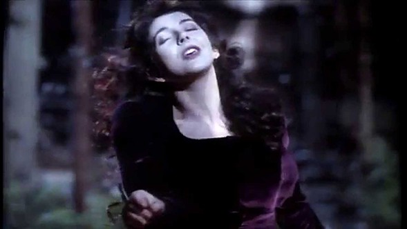 "Kate Bush in the video for ""The Sensual World"""