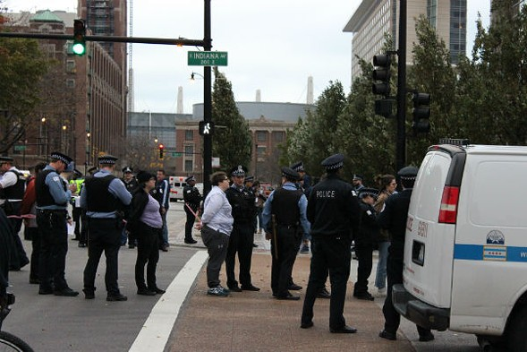 Multiple protesters were arrested during Saturday's demonstration. - (TATIANA WALK-MORRIS)