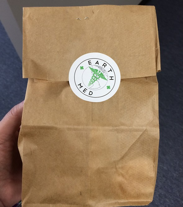 A not so little green bag from EarthMed - COURTESY MICHELLE DIGIACOMO