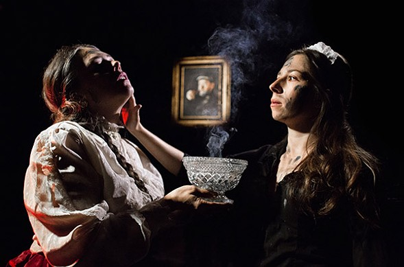 Carolyn Hoerdemann and Catherine Lavoie in Mary-Arrchie's Ibsen's Ghosts - JOE MAZZA