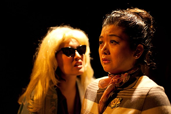 Karissa J. Murrell Myers and Ginger Leopoldo in Prologue Theatre's Tea - ELAINE C. BELL-QUINN