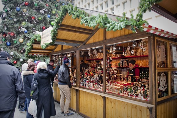 Decorations and nutcrackers galore at Christkindlmarket - ASHLEE REZIN/SUN-TIMES MEDIA