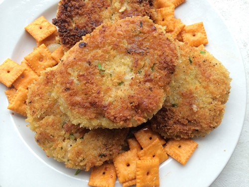 Cheddar risotto cakes - MIKE SULA