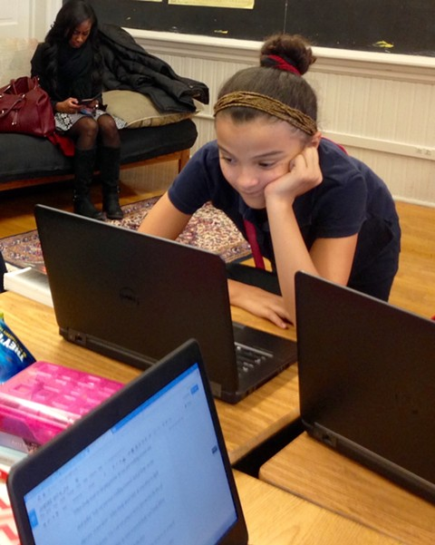 A young writer at work - AIMEE LEVITT