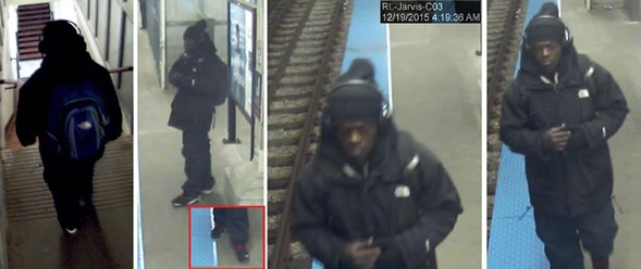 Police released photos Sunday of a man suspected of robbing and assaulting a woman outside the Jarvis Red Line station. - CHICAGO POLICE DEPARTMENT