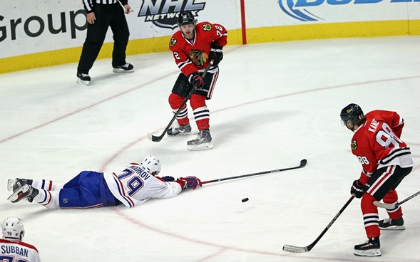 The Blackhawks defeated the Canadiens 5-2 Sunday. - JONATHAN DANIEL/GETTY IMAGES