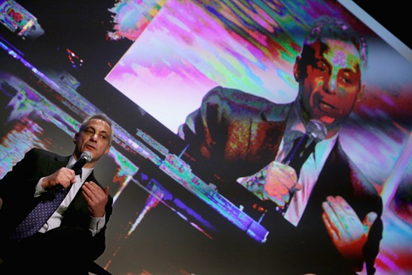Mayor Rahm Emanuel spoke at the U.S. Conference of Mayors annual meeting in Washington, D.C., Wednesday. - CHIP SOMODEVILLA/GETTY IMAGES