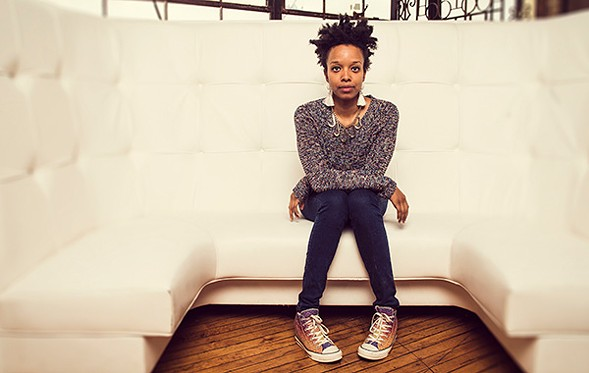 The new Louder Than a Bomb mixtape, featuring Jamila Woods, premieres at the Winter Block Party. - BILL WHITMIRE