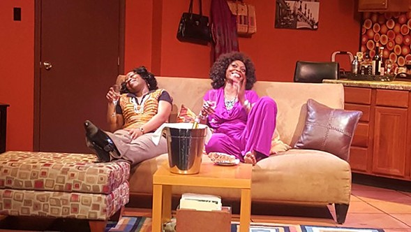 Alexis J. Rogers and Shanesia Davis in Congo Square Theatre's What I Learned in Paris
