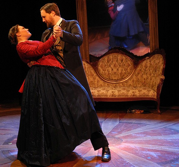 Drew Johnson and Jacquelyne Jones in City Lit's The Gilded Age