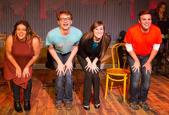 Dakota Hughes, Jake Morrissy, Ellen Fred, Alex Ghattas in Open Door Rep's [Title of Show] - WILLIAM FREDERKING