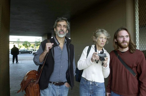 Jamie Kalven, left, pictured here with colleagues in 2002, has won a prestigious Polk Award. - BOB BLACK/SUN/TIMES