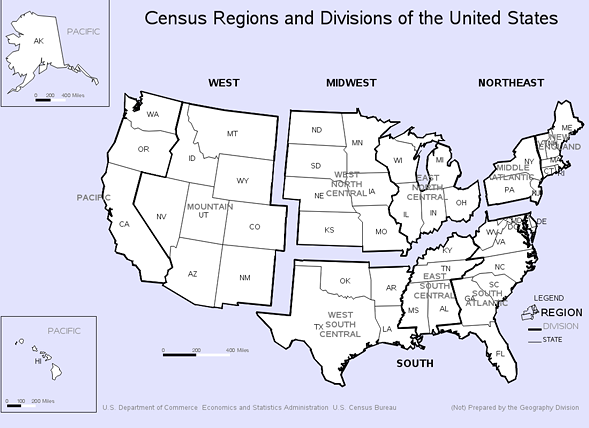 The U.S. Census Bureau's definition of the midwest includes states with large cities and populations of African-Americans and immigrants that don't fit the traditional notion of the American heartland. - U.S. CENSUS BUREAU