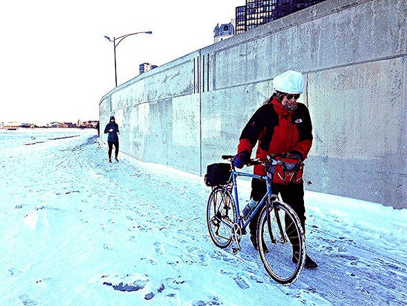 The Oak Street Curve becomes dangerous when icy. - JOHN GREENFIELD