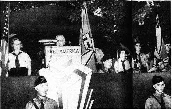German-American Bund leader Fritz Kuhn promises to make Germany and America great once more at a rally at Irving Park and Narragansett on June 18, 1939. - CHICAGO DAILY TIMES