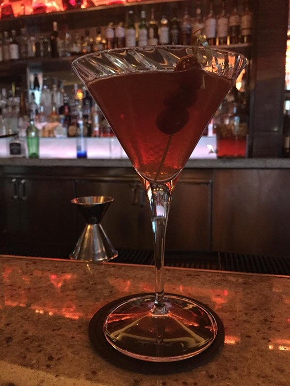 "The overpriced $17 ""Fear Not"" cocktail at the Trump hotel's Rebar. - RYAN SMITH"